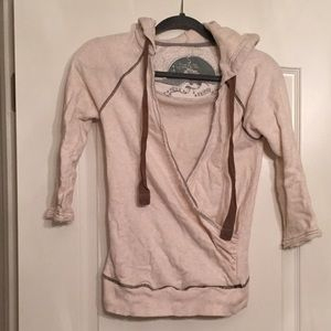 Free People Front Wrap Pullover Hoodie